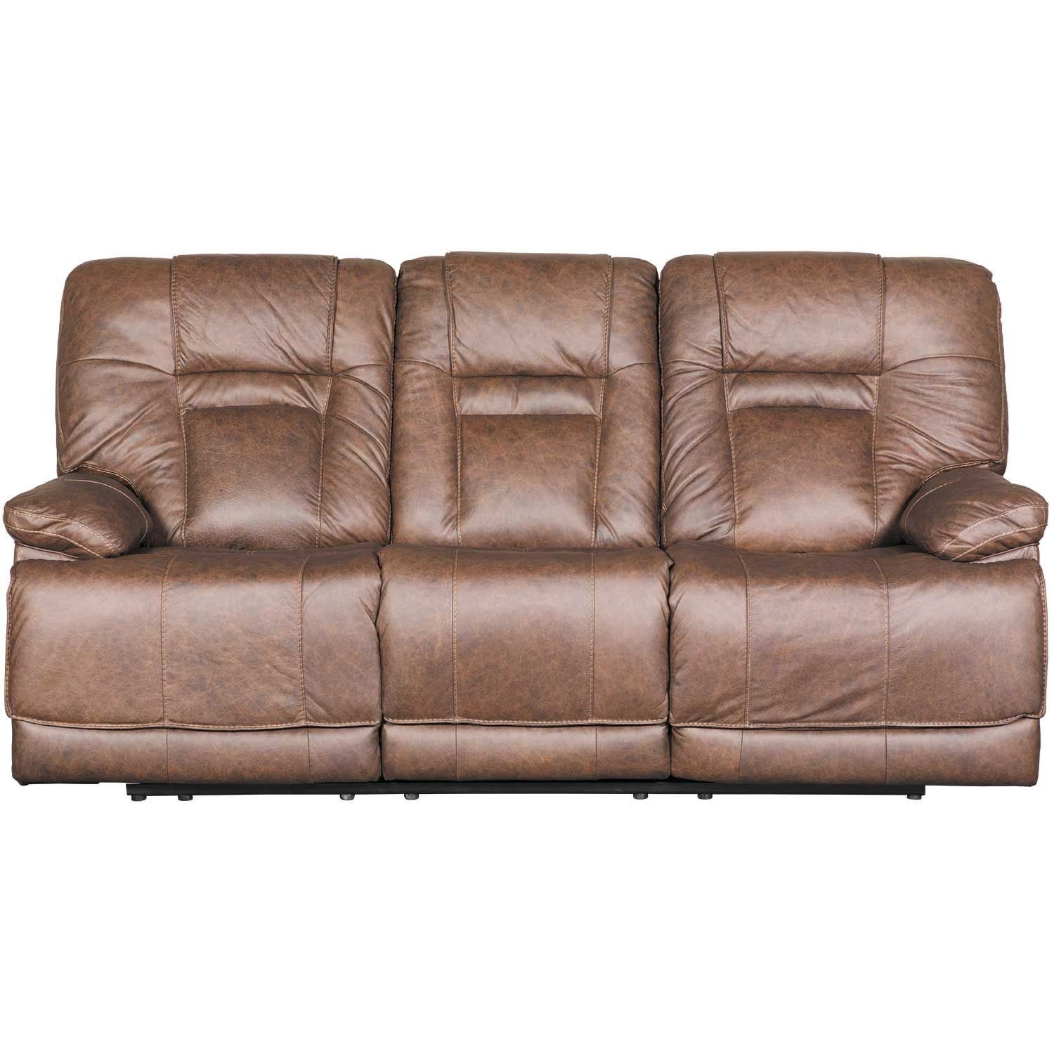 Wurstrow Umber Italian Leather Power Reclining Sofa U5460315