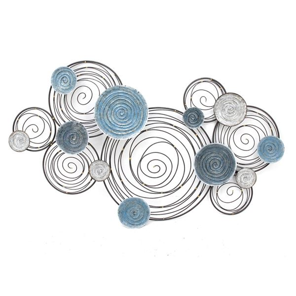 Picture of Blue Silver Circles Wall Decor