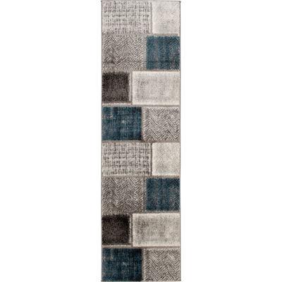 Picture of Rainier Beldon Grey Multi 2x7 Rug