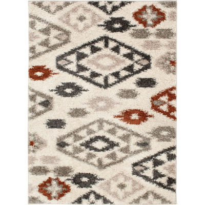 Picture of Multi Shaggy Diamond 5x7 Rug