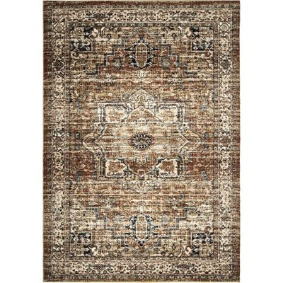 Picture of Medallion Red Traditional Rug