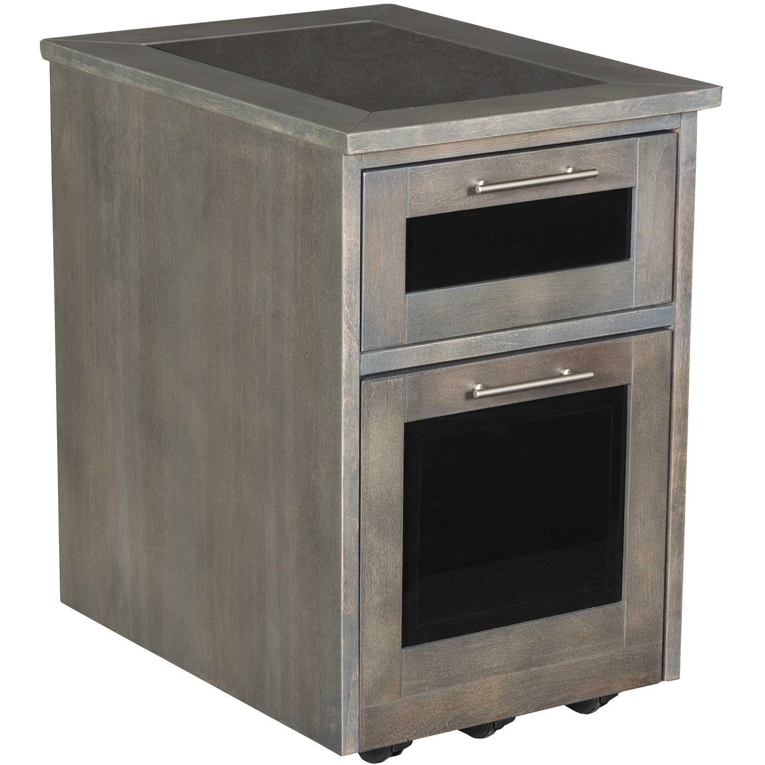 Picture of Zeta Grey Rolling File Cabinet