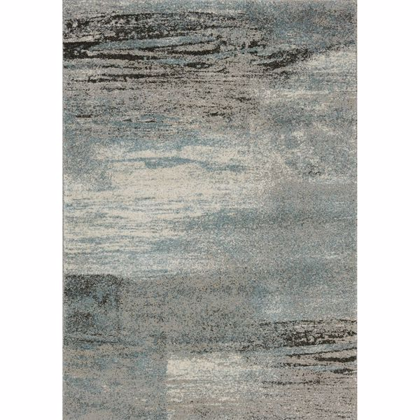 Picture of Breeze Gray Blue Charcoal 8x10 Rug