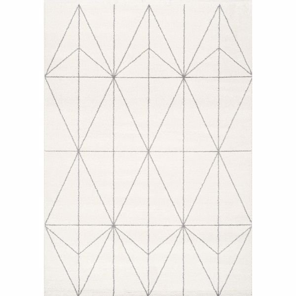 Picture of Spring Ivory Light Gray Geo 5x8 Rug