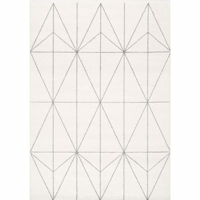 Picture of Spring Ivory Light Gray Geo 8x10 Rug