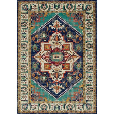 Picture of Topaz Navy Multi Traditional 5x8 Rug