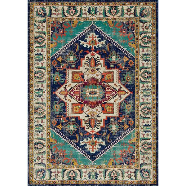 Picture of Topaz Navy Multi Traditional 8x10 Rug