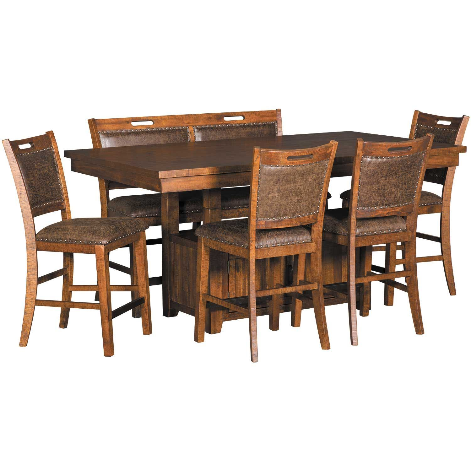 Pleasant Fawn 6 Piece Dining Pub Set Home Interior And Landscaping Dextoversignezvosmurscom