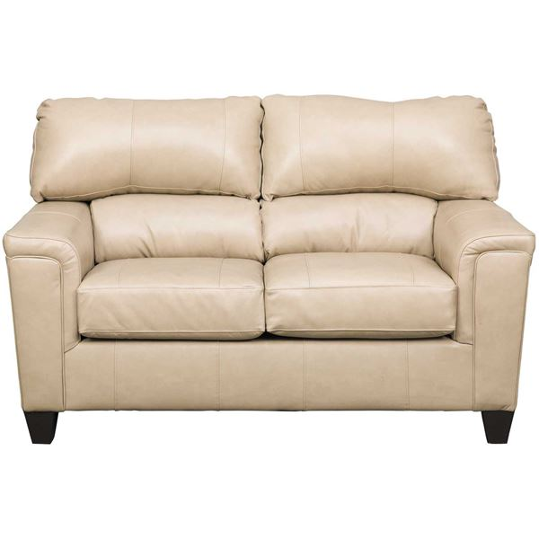Picture of Graham Putty Leather Loveseat