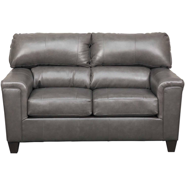 Awesome Graham Fog Leather Loveseat Creativecarmelina Interior Chair Design Creativecarmelinacom