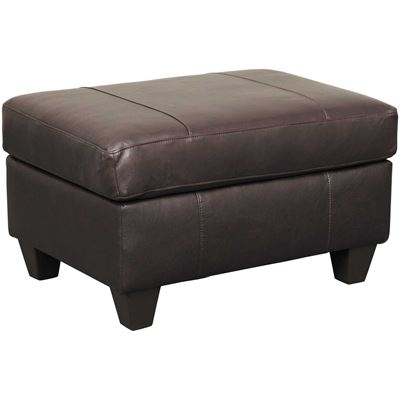 Picture of Graham Bark Leather Ottoman