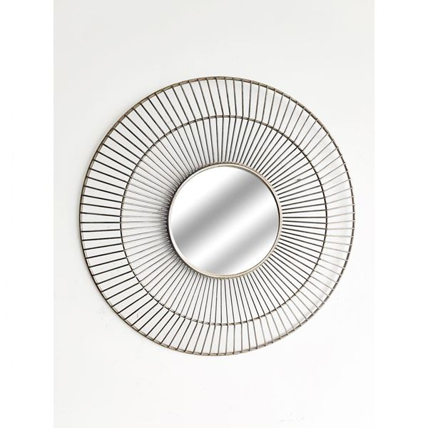 Picture of Metal Round Silver Mirror