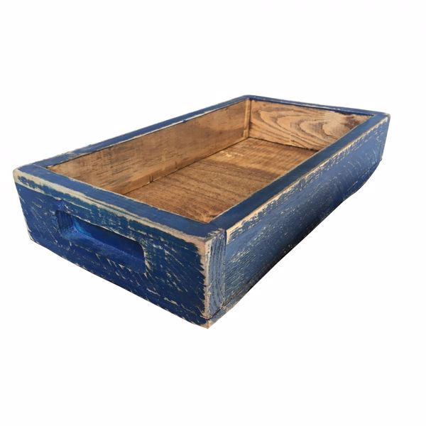 Picture of Rustic Wooden Tray - Navy