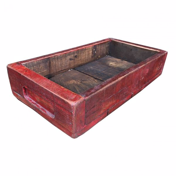 Picture of Rustic Wooden Tray - Red