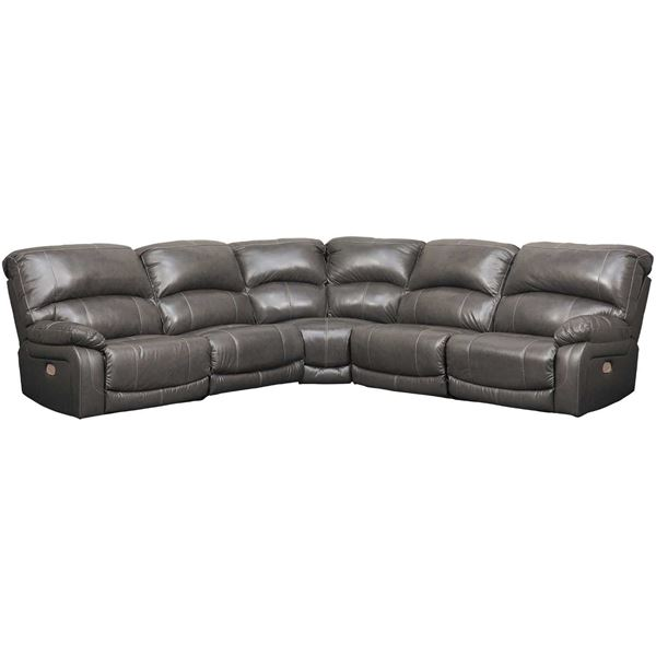 Picture of 5PC Leather Power Recline Sectional