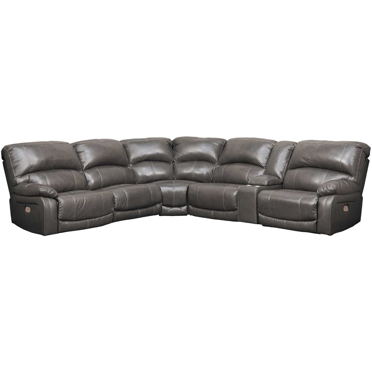 Picture of 6PC Leather Power Recline Sectional