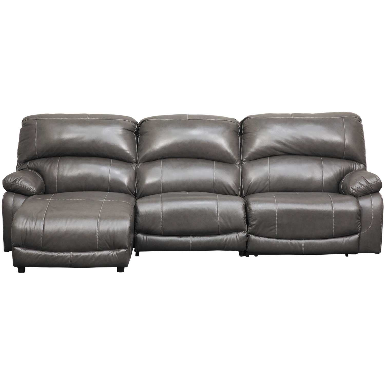 Picture of 3PC Leather Power Recline Sectional w/ LAF Chaise