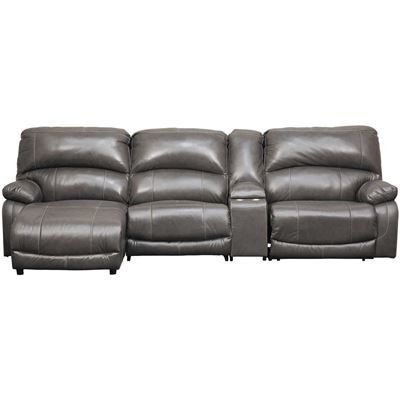 Picture of 4PC Leather Power Recline Sectional w/ LAF Chaise