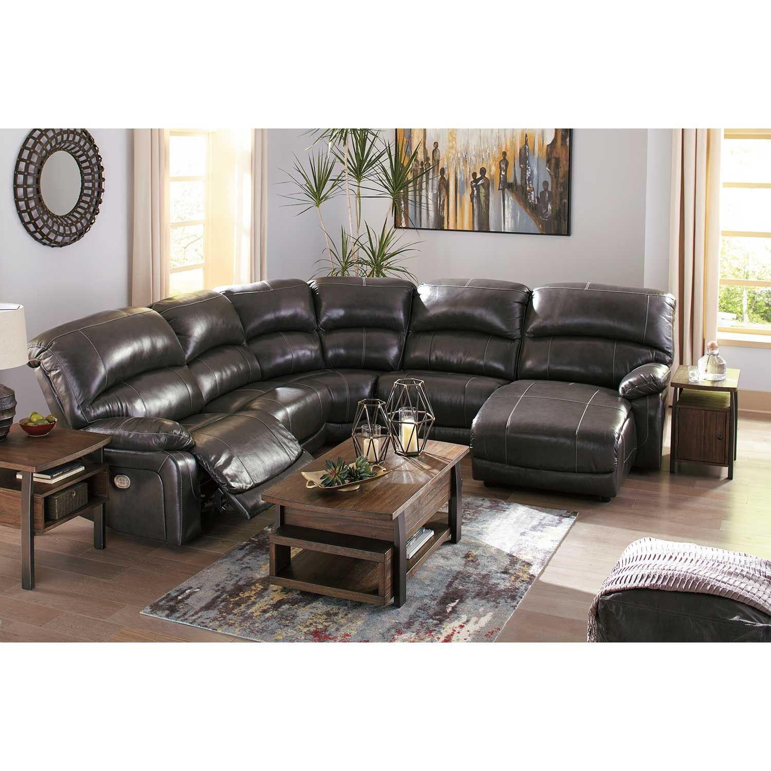 Picture of 5PC Leather Power Recline Sectional w/ LAF Chaise