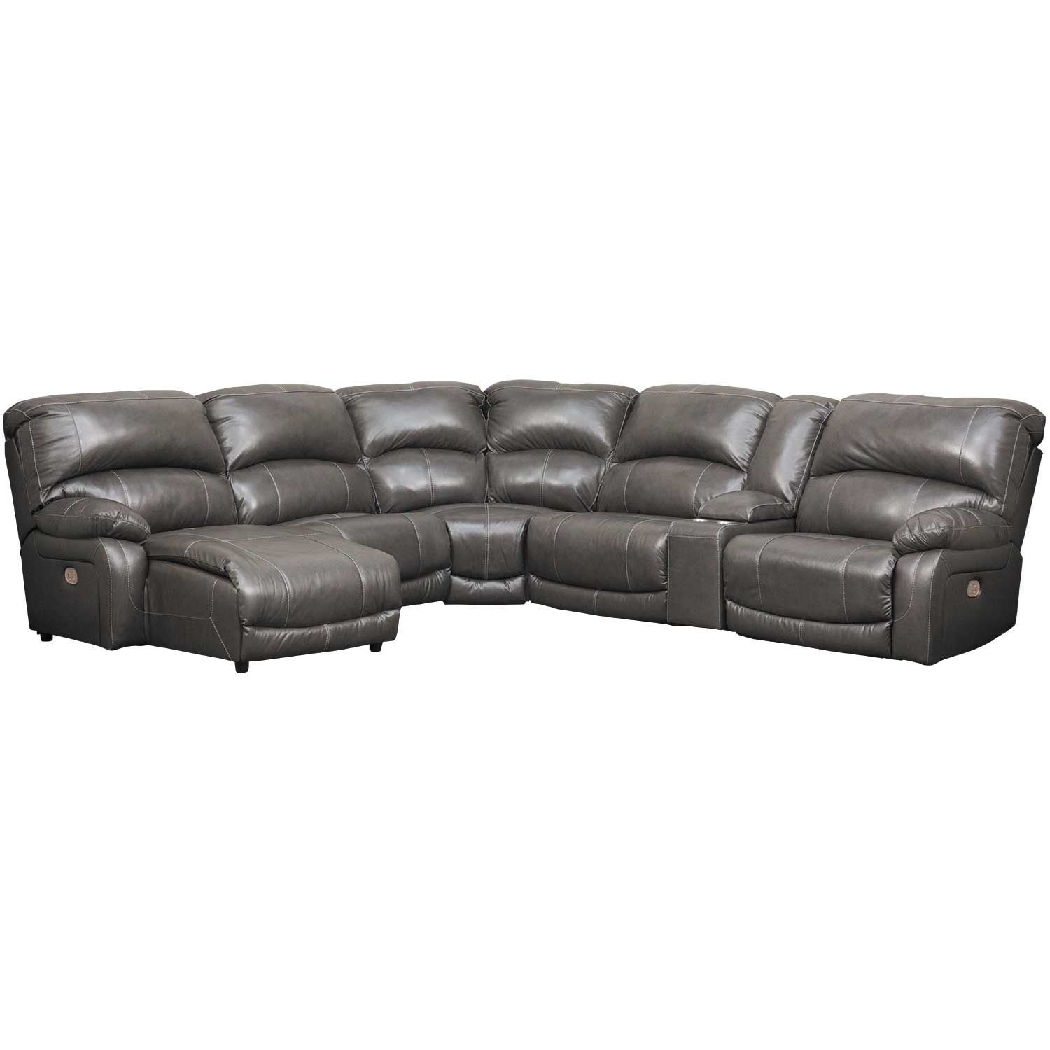 Picture of 6PC Leather Power Recline Sectional w/ LAF Chaise