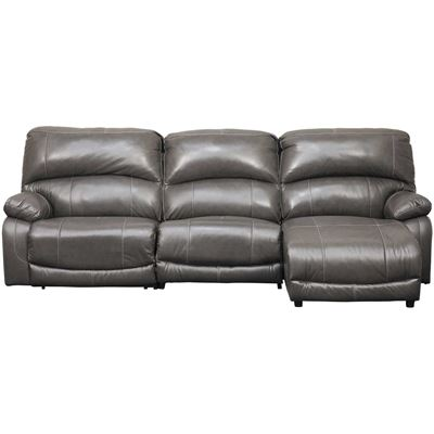 Picture of 3PC Leather Power Recline Sectional w/ RAF Chaise