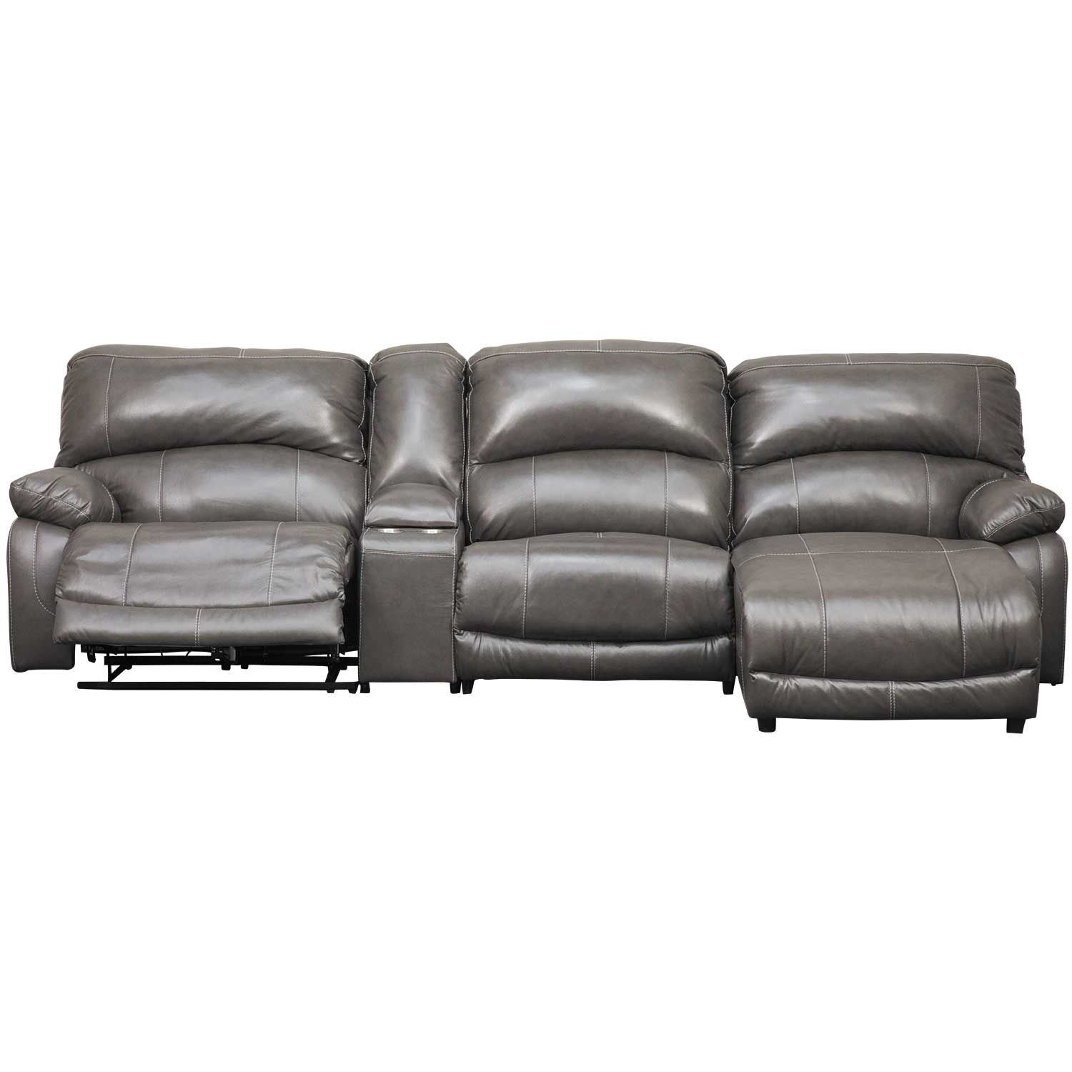 Picture of 4PC Leather Power Recline Sectional w/ RAF Chaise