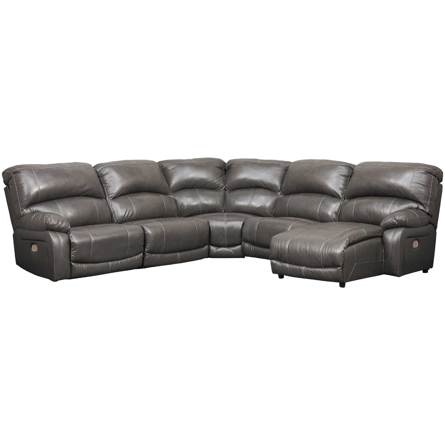 Picture of 5PC Leather Power Recline Sectional w/ RAF Chaise