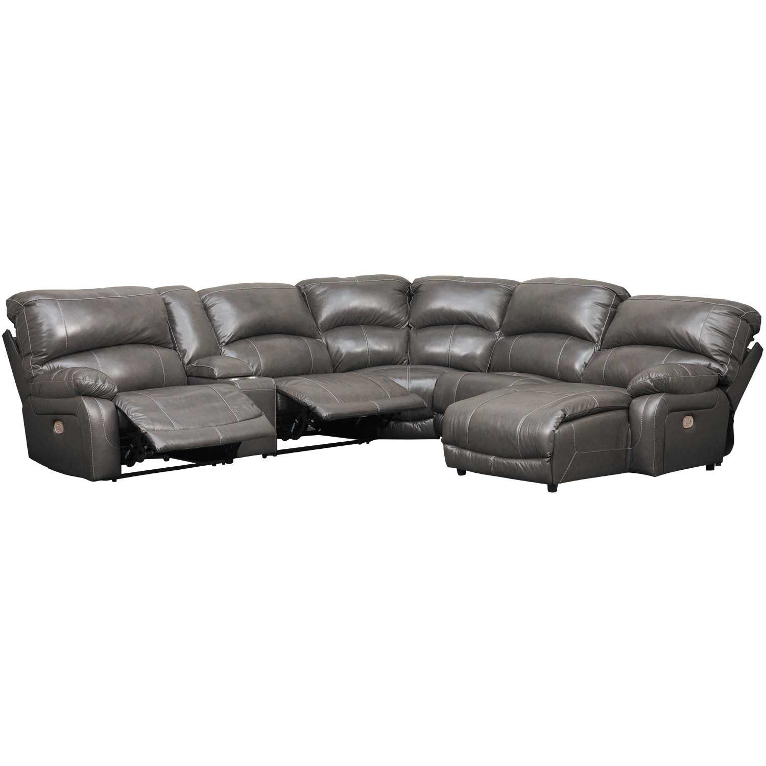 Picture of 6PC Leather Power Recline Sectional w/ RAF Chaise