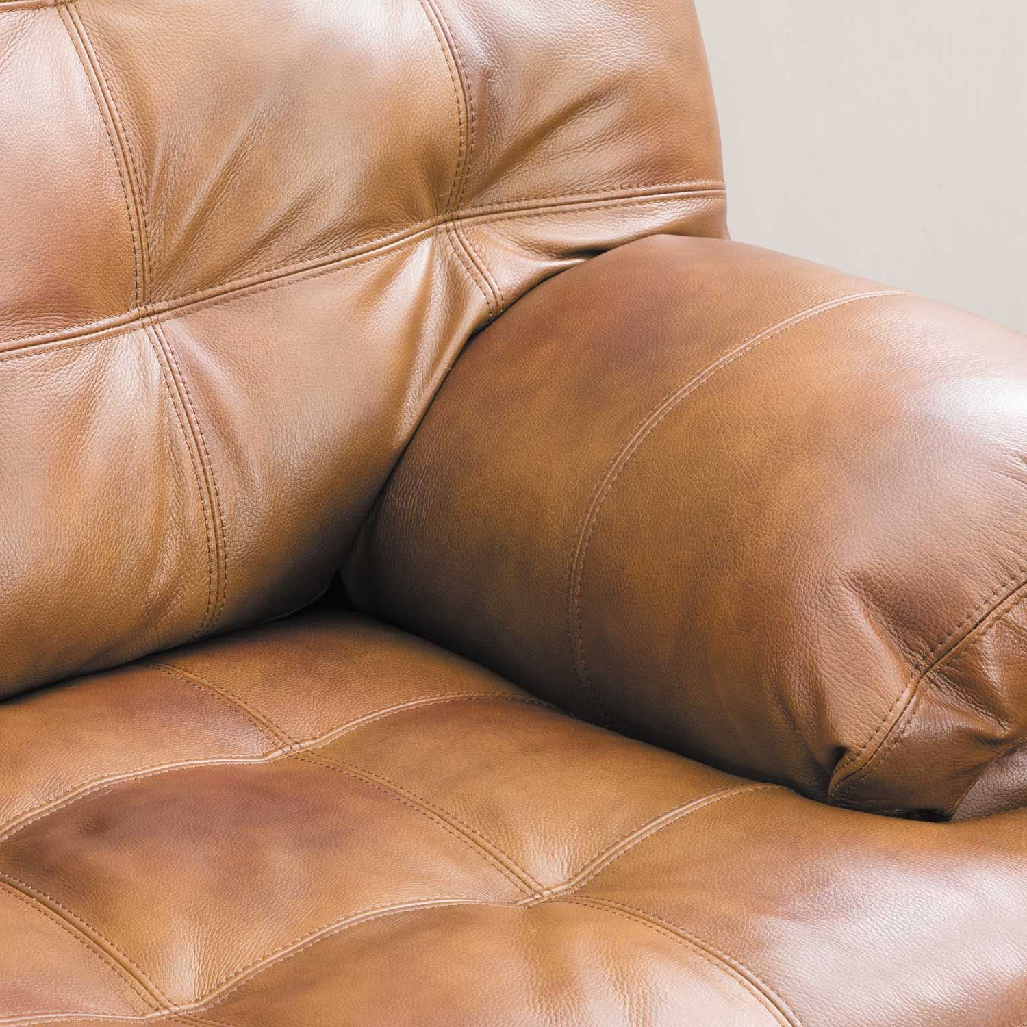 Picture of Dunham Chaps Leather Loveseat