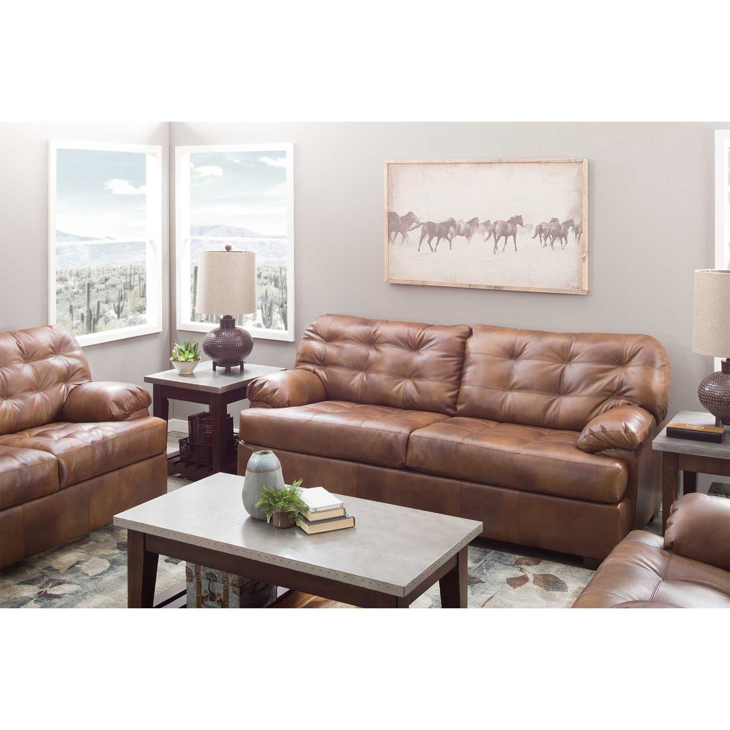 Dunham Chaps Leather Sofa