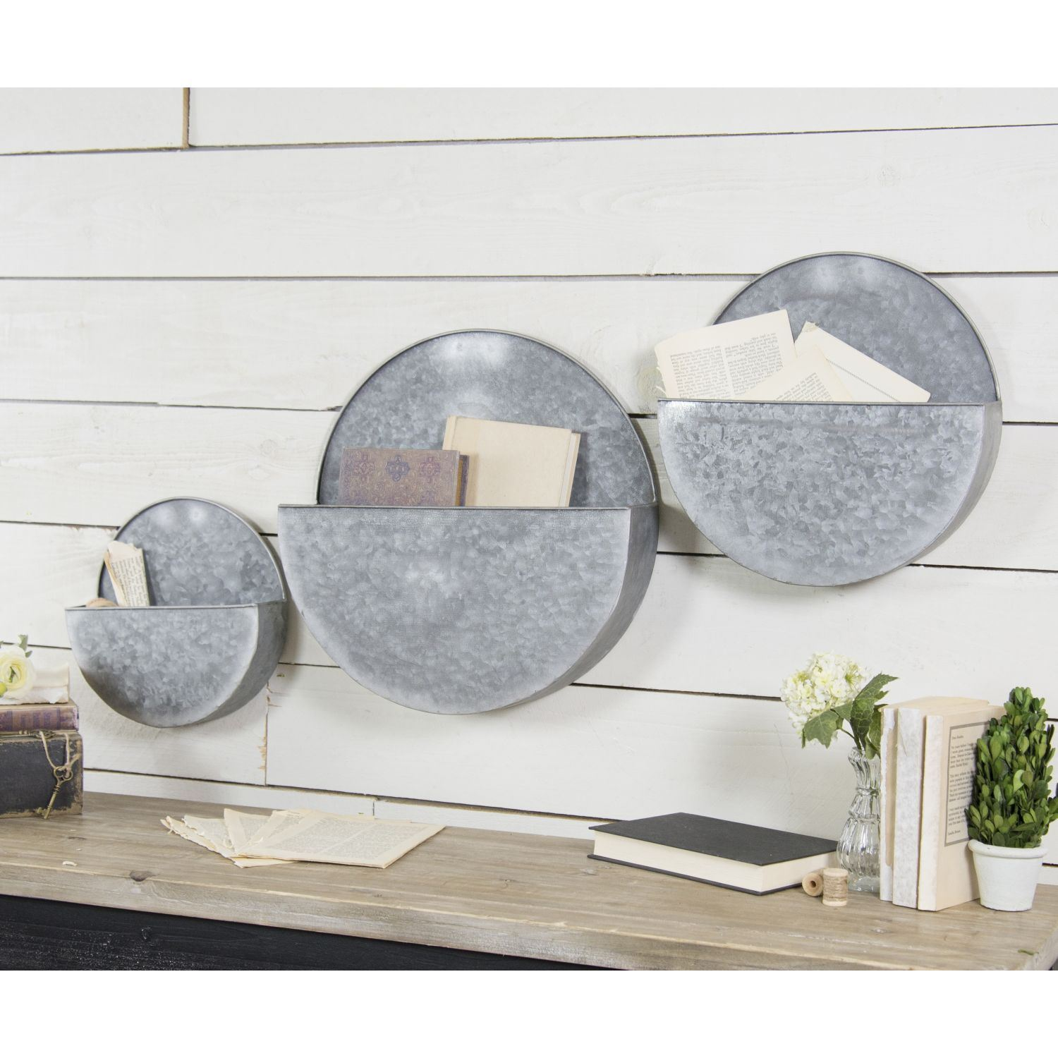Picture of Set 3 Metal Wall Planters