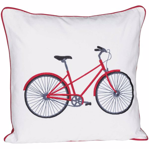 Picture of Red Bicycle 20X20 Decorative Pillow