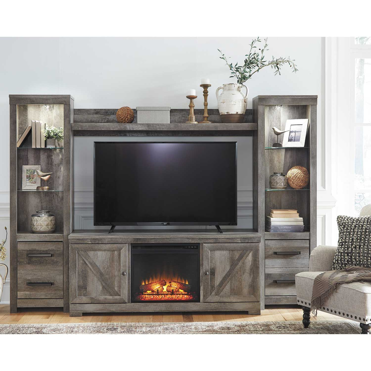 Picture of Wynnlow Fireplace Wall Unit