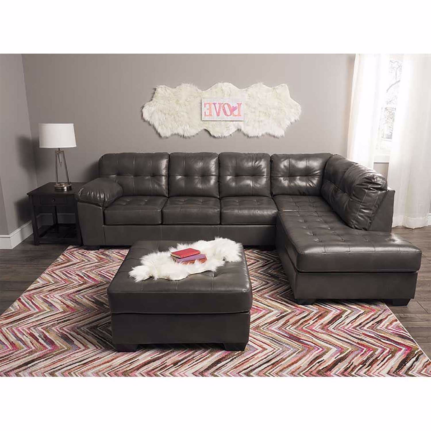 Strange Alliston Gray 2Pc Sectional W Raf Chaise Caraccident5 Cool Chair Designs And Ideas Caraccident5Info