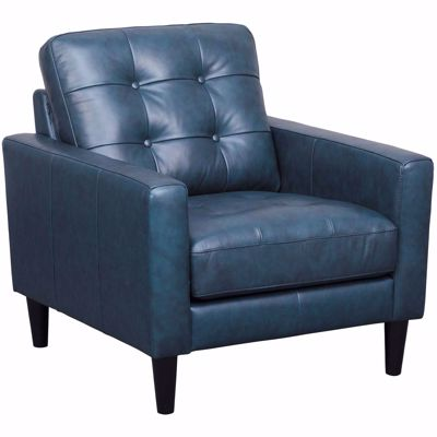 Picture of Ashton Navy Leather Chair