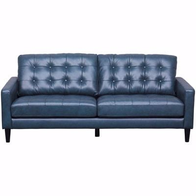 Picture of Ashton Navy Leather Sofa