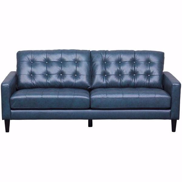 Picture of Ashton Navy Leather Sofa