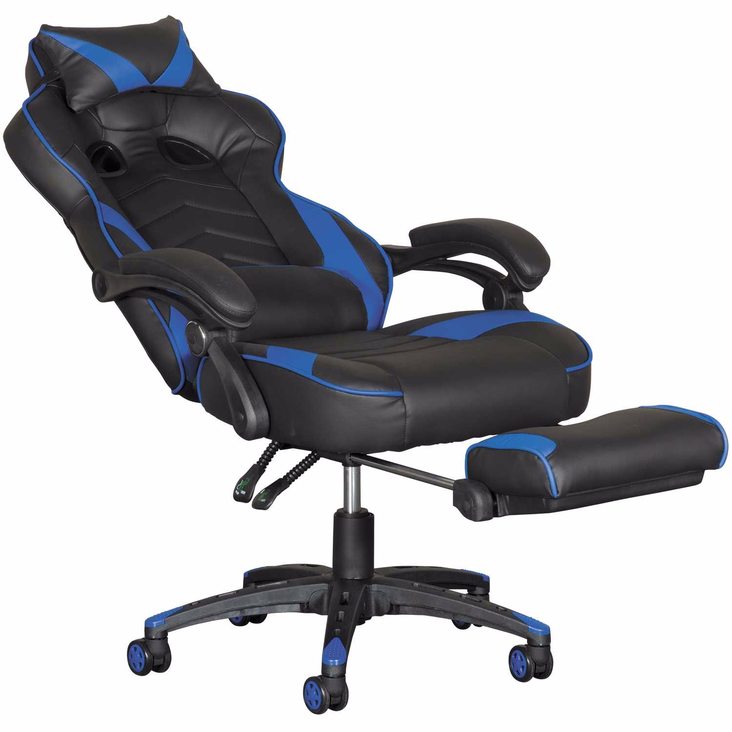 Miraculous Revolution Blue Gaming Chair With Footrest Bralicious Painted Fabric Chair Ideas Braliciousco