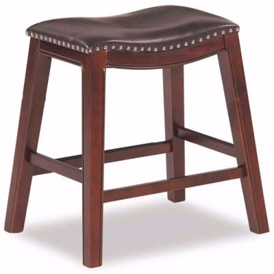"Picture of Brown 24"" Padded Saddle Stool"