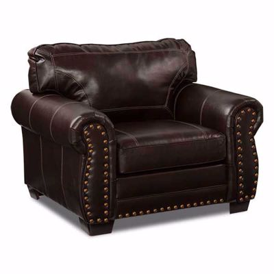 Picture of Espresso Bonded Leather Chair