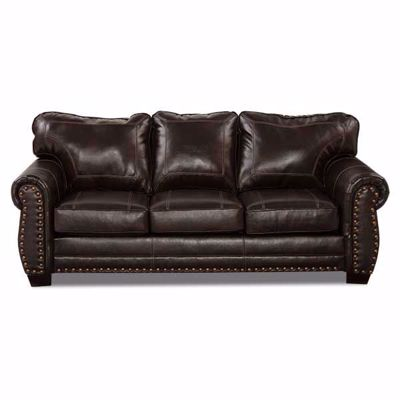 Picture of Espresso Bonded Leather Sofa