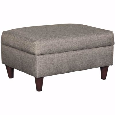 Picture of Jensen Grey Storage Ottoman