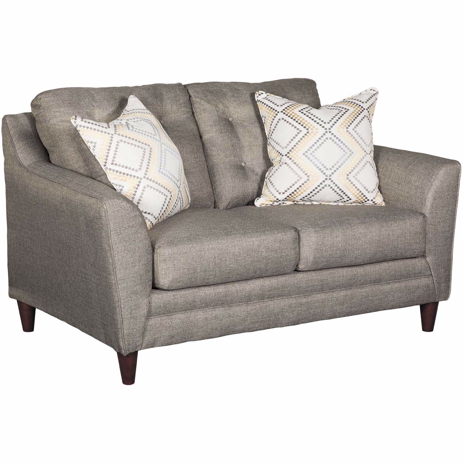 Astounding Jensen Grey Tufted Loveseat Alphanode Cool Chair Designs And Ideas Alphanodeonline