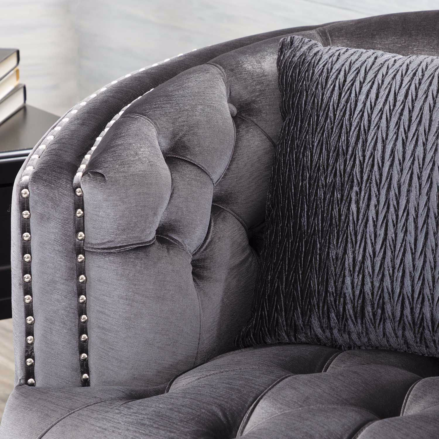 Picture of Marilyn Tufted Gray Sofa