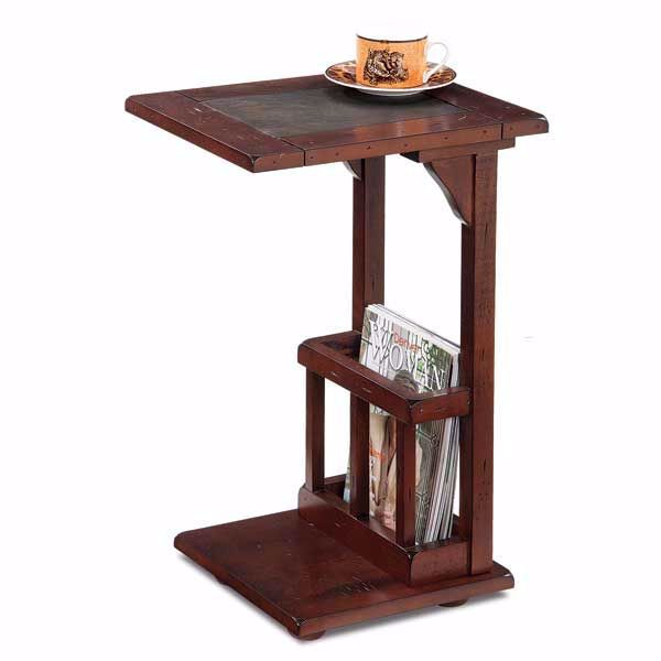 Oak Side Table With Slate Top