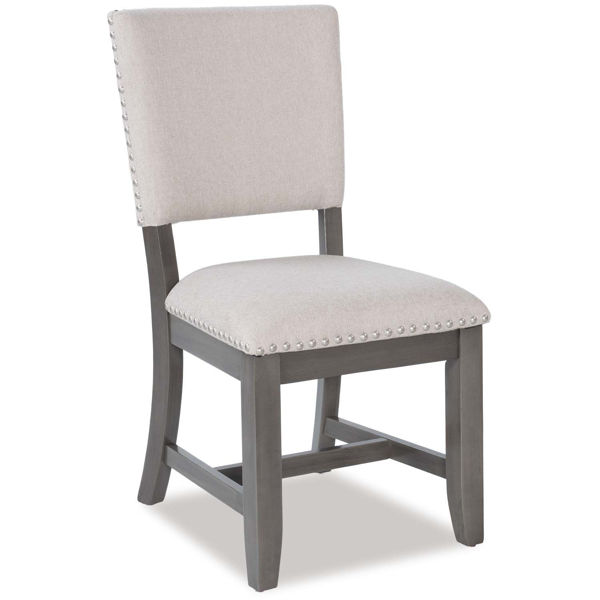Omaha Grey Upholstered Side Chair 16687 Standard Furniture Afw Com