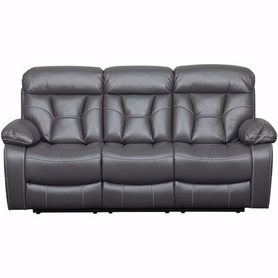Picture of Peoria Gray Power Reclining Sofa with Drop Table