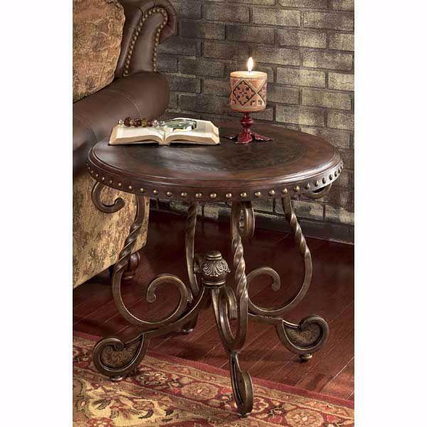 Fine Rafferty Round End Table Home Interior And Landscaping Eliaenasavecom