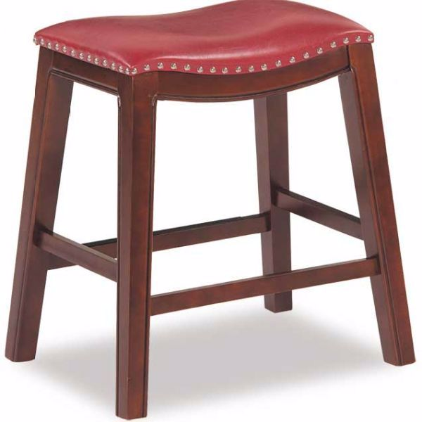 Saddle 24 Quot Padded Stool Hy 24red Industrial Metal