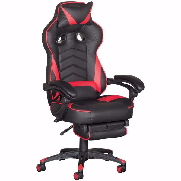 Picture of Revolution Red Gaming Chair with Footrest